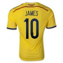 Maillot De Foot Colombie Domicile Coupe Du Monde 2014 (10 James) Magasin Lyon