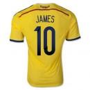Maillot De Foot Colombie Domicile Coupe Du Monde 2014 (10 James) Magasin Lyon