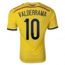 Maillot De Foot Colombie Domicile Coupe Du Monde 2014 (10 Valderrama) Escompte