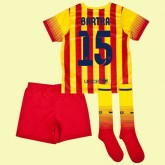 Maillot De Foot Enfants Barcelone (Marc Bartra 15) 2014-2015 Extérieur Nike Fr