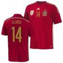 Maillot De Foot Espagne Domicile Coupe Du Monde 2014 (14 Alonso) En Ligne