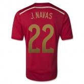 Maillot De Foot Espagne Domicile Coupe Du Monde 2014 (22 J.Navas) Faire Une Remise