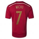 Maillot De Foot Espagne Domicile Coupe Du Monde 2014 (7 Michu) Escompte