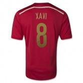 Maillot De Foot Espagne Domicile Coupe Du Monde 2014 (8 Xavi) Livraison Gratuite