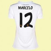 Maillot De Foot Femme Real Madrid (Marcelo 12) 2014-2015 Domicile Adidas