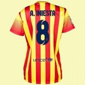 Maillot De Foot Femmes Barcelone (Andres Iniesta 8) 2014-2015 Extérieur Nike Site Francais