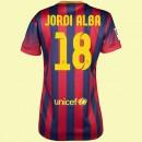 Maillot De Foot Femmes Barcelone (Jordi Alba 18) 2014-2015 Domicile Nike Site Officiel