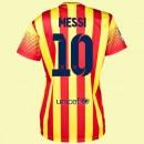 Maillot De Foot Femmes Fc Barcelone (Lionel Messi 10) 2015/16 Extérieur Prix