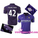 Maillot De Foot - Maillot Manchester City Toure Yaya 2015 Race Third Soldes Paris