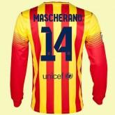 Maillot De Foot Manches Longues Barcelone (Javier Mascherano 14) 2015/16 Extérieur Magasin Lyon