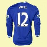 Maillot De Foot Manches Longues Chelsea (Mikel 12) 2014-2015 Domicile Adidas Ventes Privees
