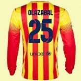 Maillot De Foot Manches Longues Fc Barcelone (Olazábal 25) 2015/16 Extérieur Nike Avec Flocage France Soldes