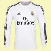 Maillot De Foot Manches Longues Fc Real Madrid 2014 2015 Domicile Adidas Officiel Réduction