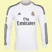 Maillot De Foot Manches Longues Fc Real Madrid 2014 2015 Domicile Adidas Officiel Réduction