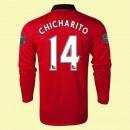Maillot De Foot Manches Longues Manchester United (Chicharito 14) 15/16 Domicile Nike Retro