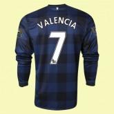 Maillot De Foot Manches Longues Manchester United (Valencia 7) 15/16 Extérieur