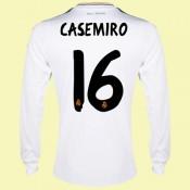 Maillot De Foot Manches Longues Real Madrid (Casemiro 16) 2014 2015 Domicile Rabais