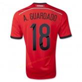 Maillot De Foot Mexique 2014 Coupe Du Monde A.Guardado Exterieur