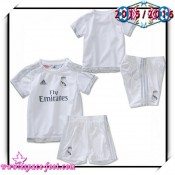 Maillot De Foot Real Madrid Fc 2015-16 Enfant Kits Domicile T Shirt 2015/2016 Catalogue
