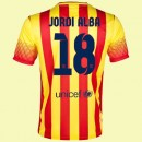 Maillot De Football Barcelone (Jordi Alba 18) 2014-2015 Extérieur Nike Authentique
