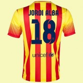 Maillot De Football Barcelone (Jordi Alba 18) 2014-2015 Extérieur Nike Authentique