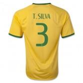 Maillot De Football Brésil 2014 Coupe Du Monde T.Silva Domicile Lyon