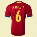 Maillot De Football Espagne (A.Inesta 6) 2014-2015 Domicile Adidas En Ligne Soldes Alsace