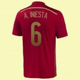 Maillot De Football Espagne (Andrés Iniesta 6) 2014 World Cup Domicile Adidas Prix Original