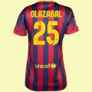 Maillot De Football Femmes Fc Barcelone (Olazábal 25) 2014-2015 Domicile Nike Shop France