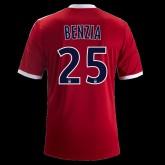 Maillot De Football Lyon (Yassine Benzia 25) 2014-2015 Extérieur Adidas Pas Cher