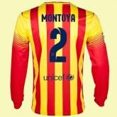 Maillot De Football Manches Longues Barcelone (Martin Montoya 2) 15/16 Extérieur Achat À Prix Bas