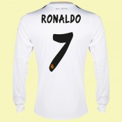 Maillot De Football Manches Longues Real Madrid (Ronaldo 7) 15/16 Domicile Acheter