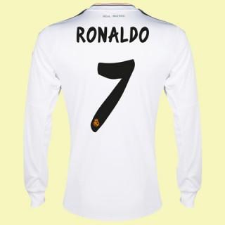 Maillot De Football Manches Longues Real Madrid (Ronaldo 7) 15/16 Domicile Acheter