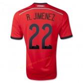 Maillot De Football Mexique 2014 Coupe Du Monde R.Jimenez Exterieur