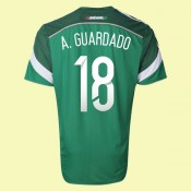 Maillot De Football Mexique (Andrés Guardado 18) 2014 World Cup Domicile Adidas