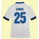Maillot De Inter Milan (Samuel 25) 2014-2015 Extérieur Nike Achat