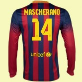 Maillot De Manches Longues Fc Barcelone (Javier Mascherano 14) 15/16 Domicile Original