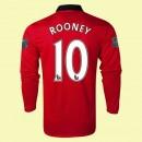 Maillot De Manches Longues Manchester United (Rooney 10) 15/16 Domicile
