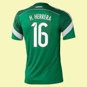 Maillot De Mexique (Héctor Miguel Herrera 16) 2014 World Cup Domicile Adidas