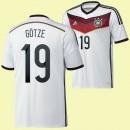 Maillot Du Foot Allemagne (G?Tze 19) 2014 World Cup Domicile Adidas Avec Flocage