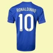 Maillot Du Foot Brésil (Ronaldinho 10) 2015/16 Extérieur Nike Cannes
