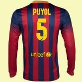 Maillot Du Foot Manches Longues Barcelone (Carles Puyol 5) 15/16 Domicile Site Officiel France