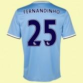 Maillot Du Foot Manchester City (Fernandinho 25) 2015/16 Domicile