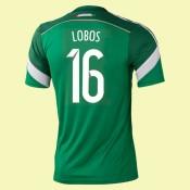 Maillot Du Foot Mexique (Lobos 16) 2014 World Cup Domicile Adidas Personnalisé