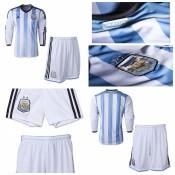 Maillot Enfant Kit Argentine Ml 2014 15 Domicile