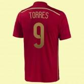 Maillot Espagne (Torres 9) 2014 World Cup Domicile Adidas Retro Prix France