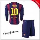Maillot Fc Barcelone Enfant Trousse (Messi 10) 2014 2015 Manche Longue Domicile Nice