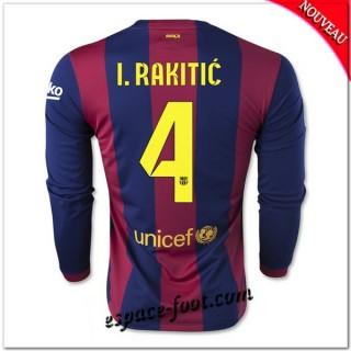 Maillot Fc Barcelone (I.Rakitic 4) Manche Longue 2014-15 Domicile Soldes Alsace