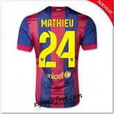 Maillot Fc Barcelone (Mathieu 24) 2014 15 Domicile Magasin Paris