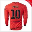 Maillot Fc Barcelone (Messi 10) Manche Longue 2014 2015 Extérieur Soldes Cannes